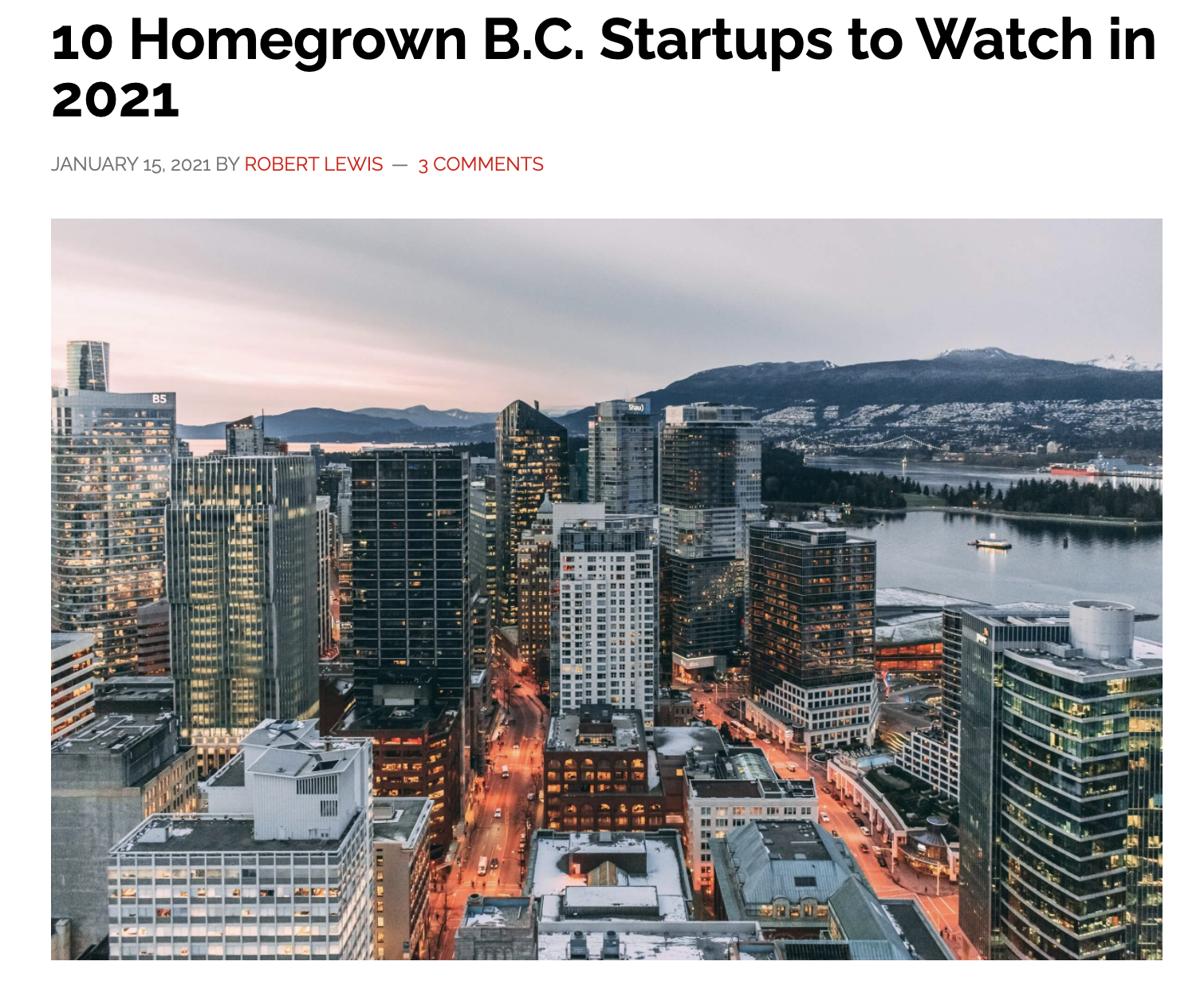 "Darwin Labs: Chosen in Techcouver's ""Top 10 Homegrown Startups to Watch in 2021"""